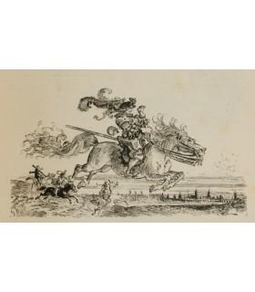 RABELAIS. Œuvres. Illustrations de Albert Robida. 2 volumes in-4, demi-maroquin rouge à coins.