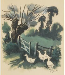 SAND (George). La Mare au diable. Illustrations en couleurs signée par Pierre Gandon. Reliure de Heckly.