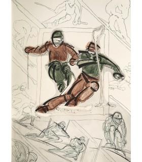 BELLO (Danielle)... Signes sur la neige. Illustrations de Alain Bar. Edition originale.