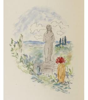 LAMANDE (André). Sous le clair regard d'Athéné. Illustrations de Pierre Laprade. Reliure de Allainmat.