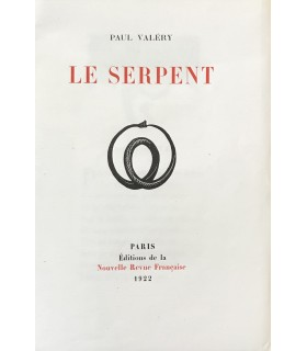 VALERY (Paul). Le Serpent. Edition originale. Illustrations de Paul Vera.