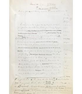 ROSNY AINE (J. H. ). Le Félin géant. Manuscrit autographe complet. Reliure de François Brindeau.