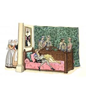 BALZAC (Honoré de). Les Contes drolatiques. Illustrations en couleurs par André Hubert. Exemplaire sur Annam de Rives