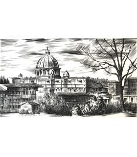 [CHATEAUBRIAND (François-René, vicomte de)] Campagne de Rome. Edition originale. Burins originaux de Josso