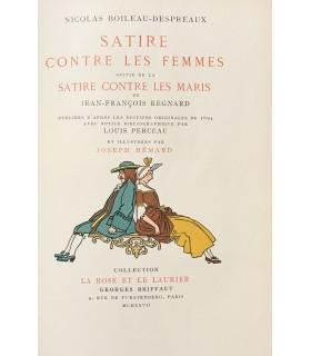 BOILEAU-DESPREAUX (Nicolas). Satire contre les femmes. Illustrations en couleurs de Joseph Hémard