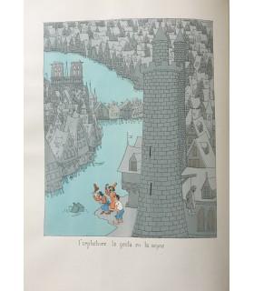 BALZAC (Honoré de). Les Contes drolatiques... Illustrations en couleurs d'Albert Dubout. Reliure plein vélin