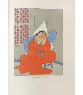 BALZAC (Honoré de). Les Contes drolatiques... Illustrations en couleurs d'Albert Dubout. Bradel demi-vélin