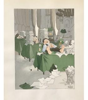 COURTELINE (Georges). Messieurs les Ronds-de-cuir. Tableau-roman de la vie de bureau. Compositions en couleurs de Dubout
