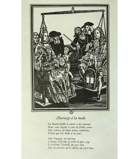 FURETIERE. Histoire de Lucrèce la Bourgeoise (extraits). Edition typographique, illustrée d'un dessin de Margat