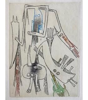 ARTAUD (Antonin). Le Théâtre et les dieux. Edition originale. Eaux-fortes originales par Wifredo Lam