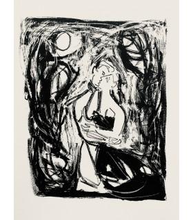 DESNOS (Robert). Les Trois Solitaires. Œuvres posthumes. Edition originale. Lithographies d'Yvette Alde