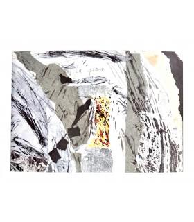 HOUELLEBECQ (Michel). La Peau. Poèmes. Edition originale. Collages de Sarah Wiame.