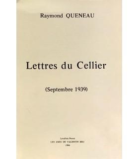 QUENEAU (Raymond). Lettre du Cellier (septembre 1939). Edition originale