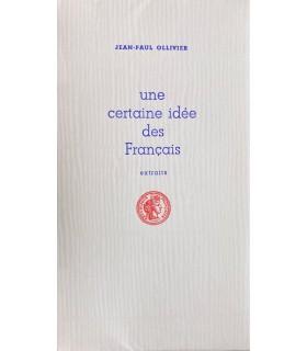 [TYPOGRAPHIE] OLLIVIER (Jean-Paul). Une certaine idée des Français (extraits). Illustrations par Andrée Derck