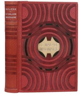 MOLIERE. Le Malade imaginaire. Illustrations de Hémard. Reliure de Legrain et Kieffer. Exemplaire sur Japon avec envoi.