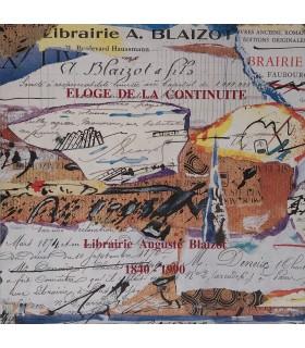 [BLAIZOT] CHAPON (François). Eloge de la continuité. Edition originale. Illustration par par Julius Baltazar
