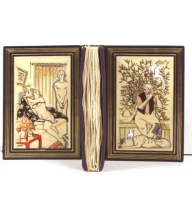 FRANCE (Anatole). la Révolte des anges. Edition originale. Reliure L. Bernard. Enrichi d'aquarelles originales signées.
