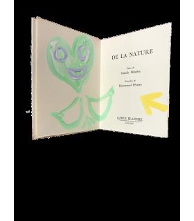 MINIERE (Claude). De la nature. Edition originale. Gouaches originales d'Emmanuel Péreire.