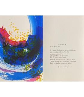 ENIGER (Ile). Le Désir ou l'Italique du jour. Edition originale. Encres de Michel Boucaut.