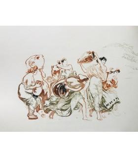 ARISTOPHANE. Lysistratè. Gravures originales de François Kupka. Préface de Lucien d'Huys. Texte en grec.