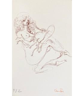 GOLL (Claire). L'Ignifère. Edition originale. Exemplaire de tête sur vélin, contenant 3 lithographies originales de Léonor Fini.
