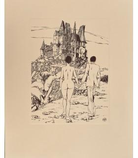 REAGE (Pauline). Histoire d'O. Edition originale de cette excellente adaptation en bande dessinée par Guido Crépax.