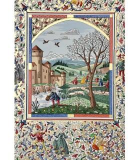 FABLIAUX DU MOYEN-AGE. Miniatures en couleurs de Lucy Boucher.