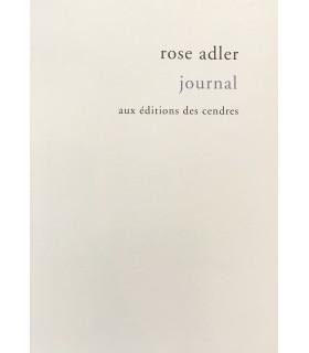 ADLER (Rose). Journal 1927-1959. Edition établie et présentée par Hélène Leroy. Edition originale.