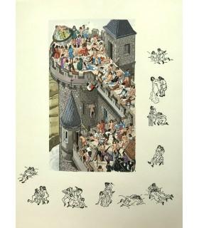 LE PETIT (Claude). L'Escole de l'interest et l'université d'amour. Miniatures originales de Jean Gradassi.