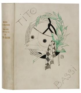 REGNIER (Henri de). L'Illusion héroïque de Tito Bassi. Illustrations de Charles Martin. Reliure de Lévitzky. Envoi autographe.