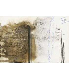 BOHBOT (Michel). Domaine du sombre. Texte calligraphié par Michel Bohbot. Compositions originales de Julius Baltazar.