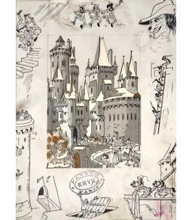RABELAIS (François). Pantagrueline prognostication, suivie de la Sciomachie. Miniatures originales de Jean Gradassi.