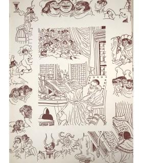 RABELAIS (François). Pantagruéline prognostication, suivie de la Sciomachie. Miniatures originales de Jean Gradassi.