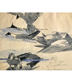 VERCEL (Roger). Sous le pied de l'archange. Illustrations de Mathurin Méheut.