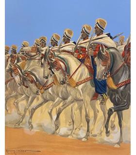 """MAC ORLAN (P.). Les """"Africains"""". La Vie pittoresque et sentimentale de l'armée française. Edition originale. Images d'E. Lajoux."""