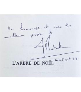BATAILLE (Michel). L'Arbre de Noël. Edition originale. Envoi autographe signé de l'auteur.