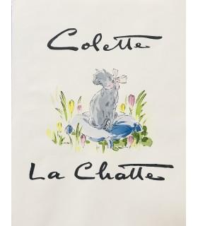 COLETTE. La Chatte. Lithographies originales de Jean-Adrien Mercier.