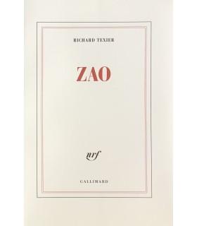 TEXIER (Richard). Zao. Edition originale de ce bel hommage rendu par Richard Texier au peintre Zao Wou-Ki.