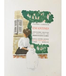 LARBAUD (Valery). Enfantines. Lithographies originales en couleurs de Pierre-Eugène Clairin.