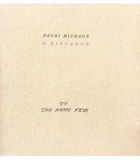 MICHAUX (Henri). A distance. Edition originale.