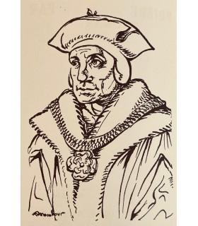MORE (Thomas). Prière au Père. Edition originale illustrée d'un portrait-frontispice de l'auteur par Auguste Mambour.