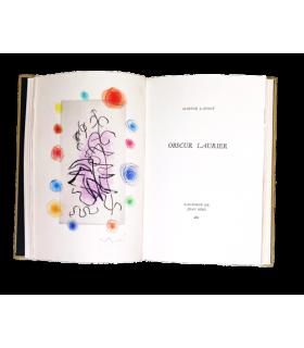LAFONT (Maryse). Obscur laurier. Eau-forte de Joan Miró. Edition originale. Reliure de Georges Leroux.