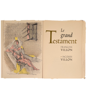 VILLON (François). Le Grand testament. Lithographies originales de Jacques Villon.
