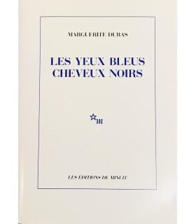 DURAS (Marguerite). Les Yeux bleus, cheveux noirs. Edition originale.