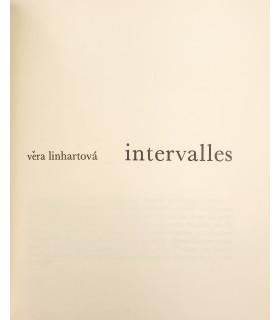 LINHARTOVA (Véra). Intervalles. Edition originale. Couverture illustrée d'une sérigraphie..