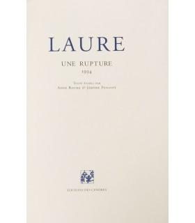 PEIGNOT (Colette). Laure. Une rupture. Edition originale de cette correspondance.