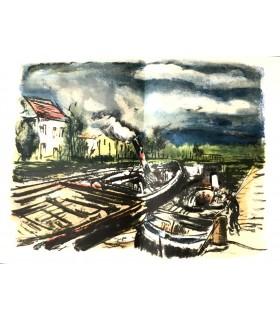 VLAMINCK (Maurice de). En noir et en couleurs. Illustrations de l'auteur. Reliure non signée. Exemplaire sur Japon.