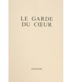 SAGAN (Françoise). Le Garde du cœur. Roman. Edition originale.