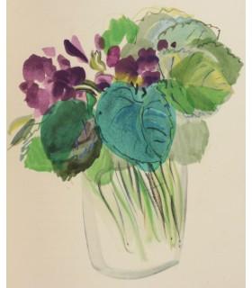 COLETTE. Pour un herbier. Illustrations de Raoul Dufy. Reliure par Madeleine Gras. Tirage unique sur vélin d'Arches.