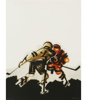 DOBZYNSKI. Le Hockey dans l'espace. - BELLO et RAMALLO. O.K. songe d'une nuit fêlée. Editions originales illustrées de Bar.